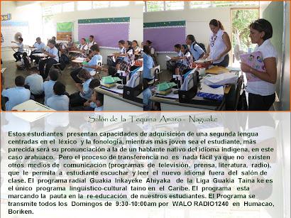 Re-Educación  Cultural ~  Lingüística Taina