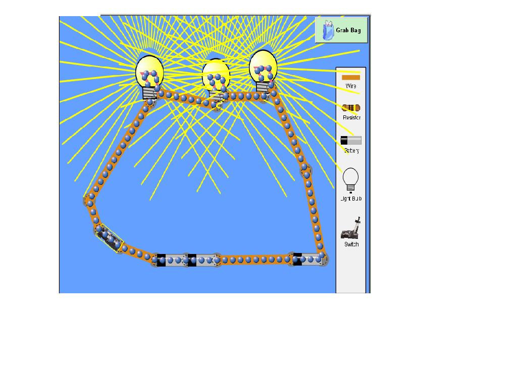 Physics Shocking Circuits Series Circuit With 3 Bulbs This Picture Shows A In The Voltage Of All Light Is Equal To Batteriesthe Each