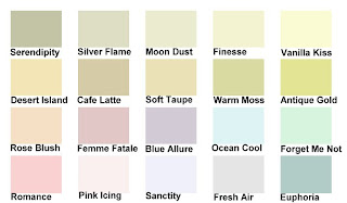 A made-up paint chart