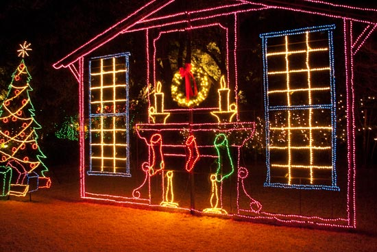 Christmas Light Night Photography My Way Or The Pie Way