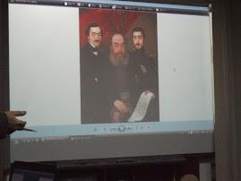 Pinacoteca ieşeană: Familia Alecsandri ( tatăl poetului, poetul şi fratele său )