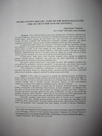 Facsimil cu prima pagină a studiului despre boierimea nemţeană medievală