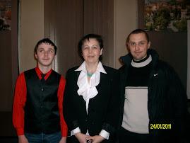 Împreună cu insp. Elena Preda, Muzeul de Istorie şi Arheologie, 24.I.2011...