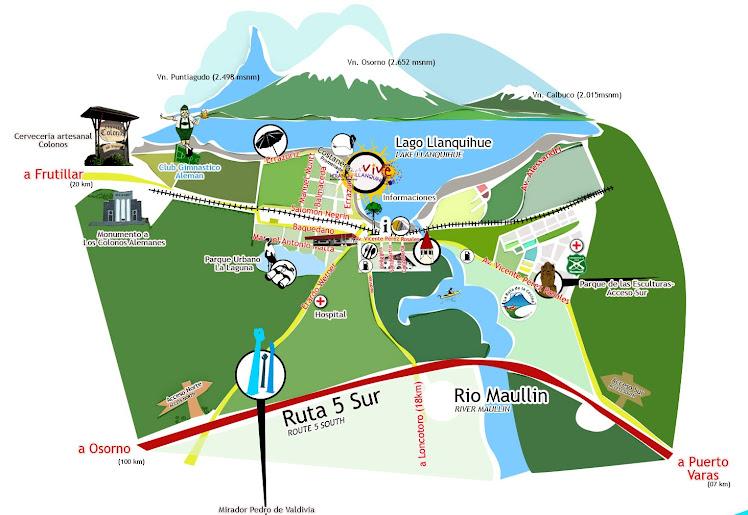 Plano Interés Turistico Comuna de Llanquihue