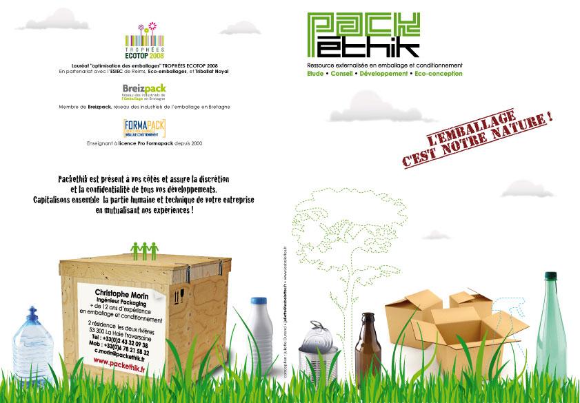 Plaquette Tte De Lettre Et Carte Visite Pour Pack Ethik