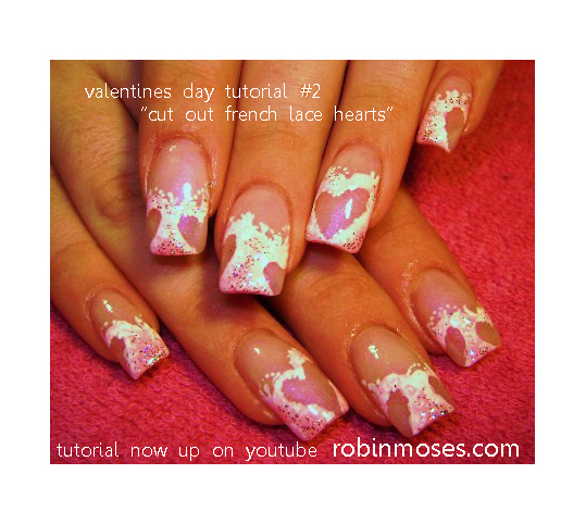 Valentines Day Nail Art Design Pink Chocolate Nails Valentines
