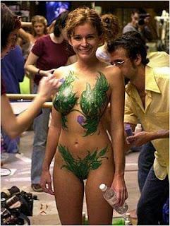 pintura corporal, mulher, gostosa, pelada, sexy, flora