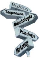 profissões, cursos, placas, sinalização