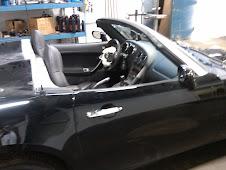 Pontiac being restored - side view