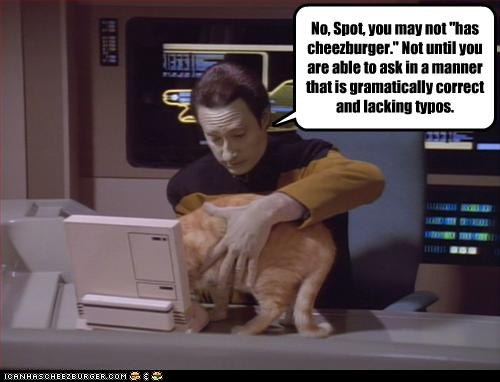 Spock addresses cat