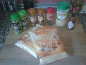 Ingredientes para los crujientes de queso.