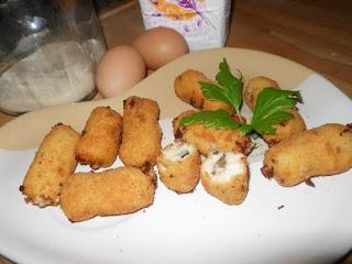 Croquetas de níscalos y parmesano