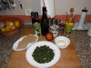 Ingredientes para las tostas.