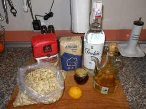 Ingredientes para las tortas de recao.