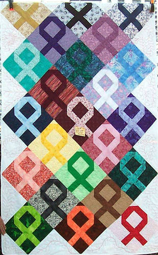 cancer ribbon quilt