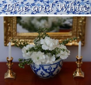 BLUE AND WHITE