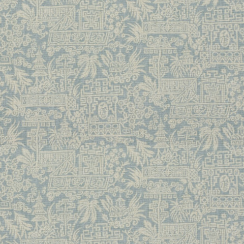 Le Colonial Toile In Ceylon/aqua Is A Modern Main Lineru0027s Dream. It Trades  The Standard Large Scale Toile Scenes (think Horses And Pigs) For A  Smaller, ... Part 64