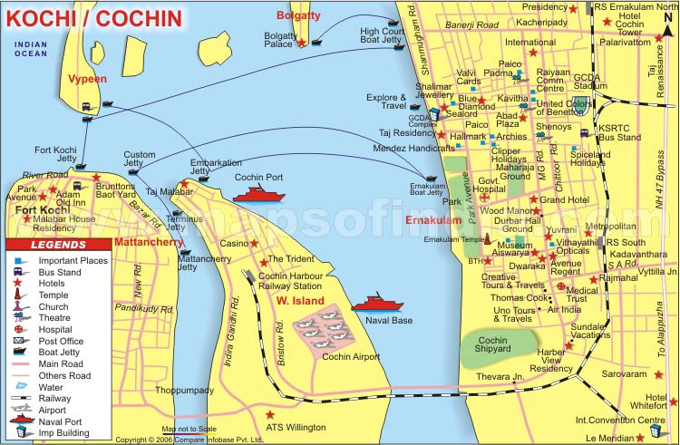 map kochi india