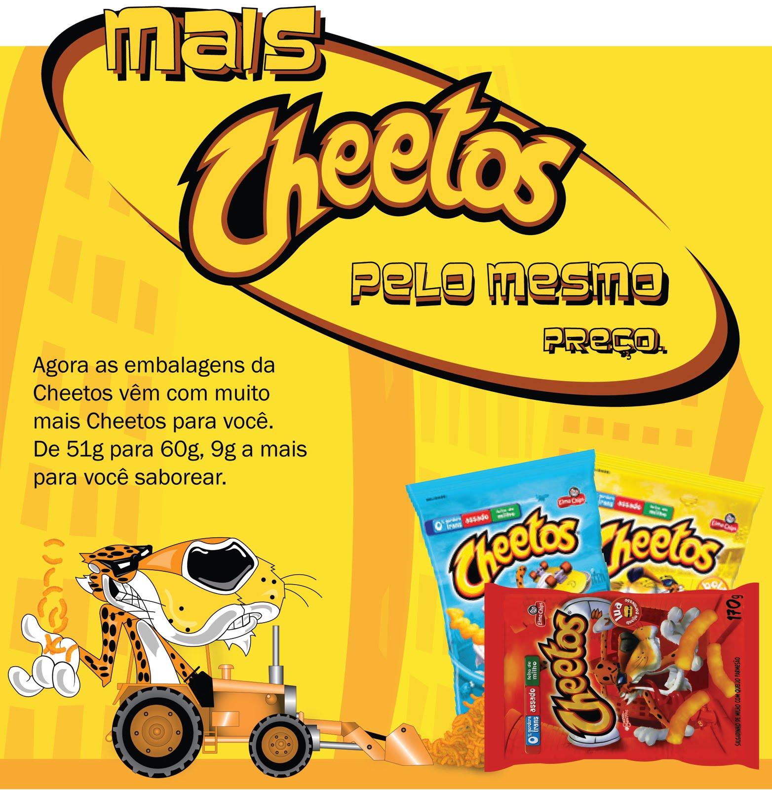Aparador Quarto De Bebe ~ Ag u00eancia Eureka Materiais de PDV Cheetos