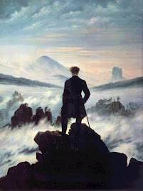 Caminante sobre un mar de niebla de Caspar David Friedrich