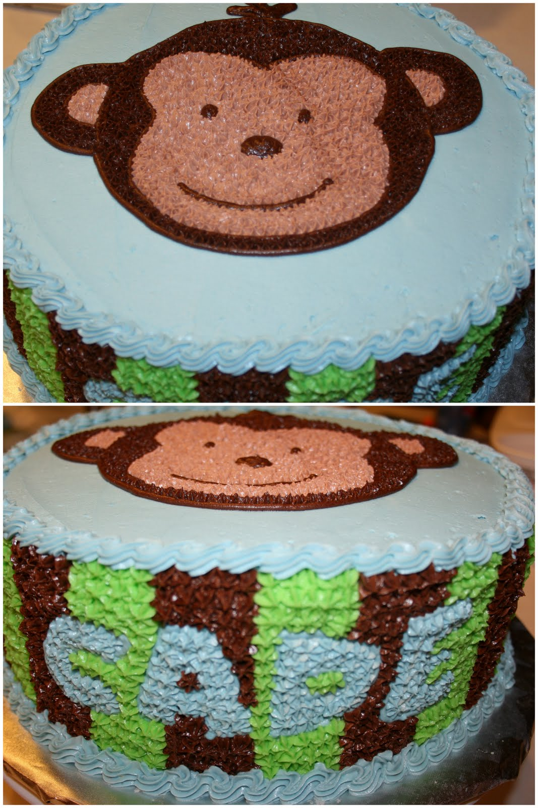 Monkey cakes carly s cakes teri s babyshower cakes monkey shower cakes monkey baby showers - Baby shower monkey pictures ...