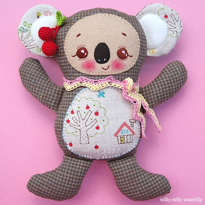 Knitter's Review Forums - how to embroider face on teddy bear?