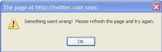 error on twitter