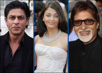 Shahrukh Khan, Aishwarya Bachchan and Amitabh Bachchan