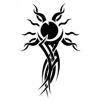 Tribal  Tattoo Designs on Tribal Sun Tattoo Click Here For Download
