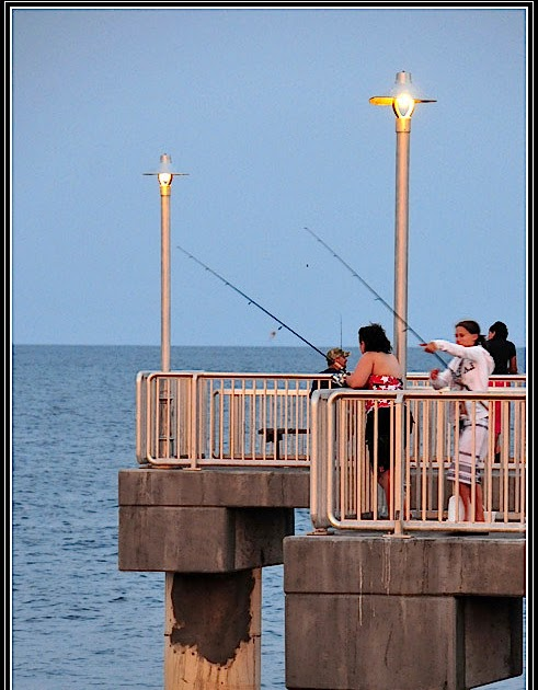 Cedar key florida photos even girls like to fish at for Cedar key fishing