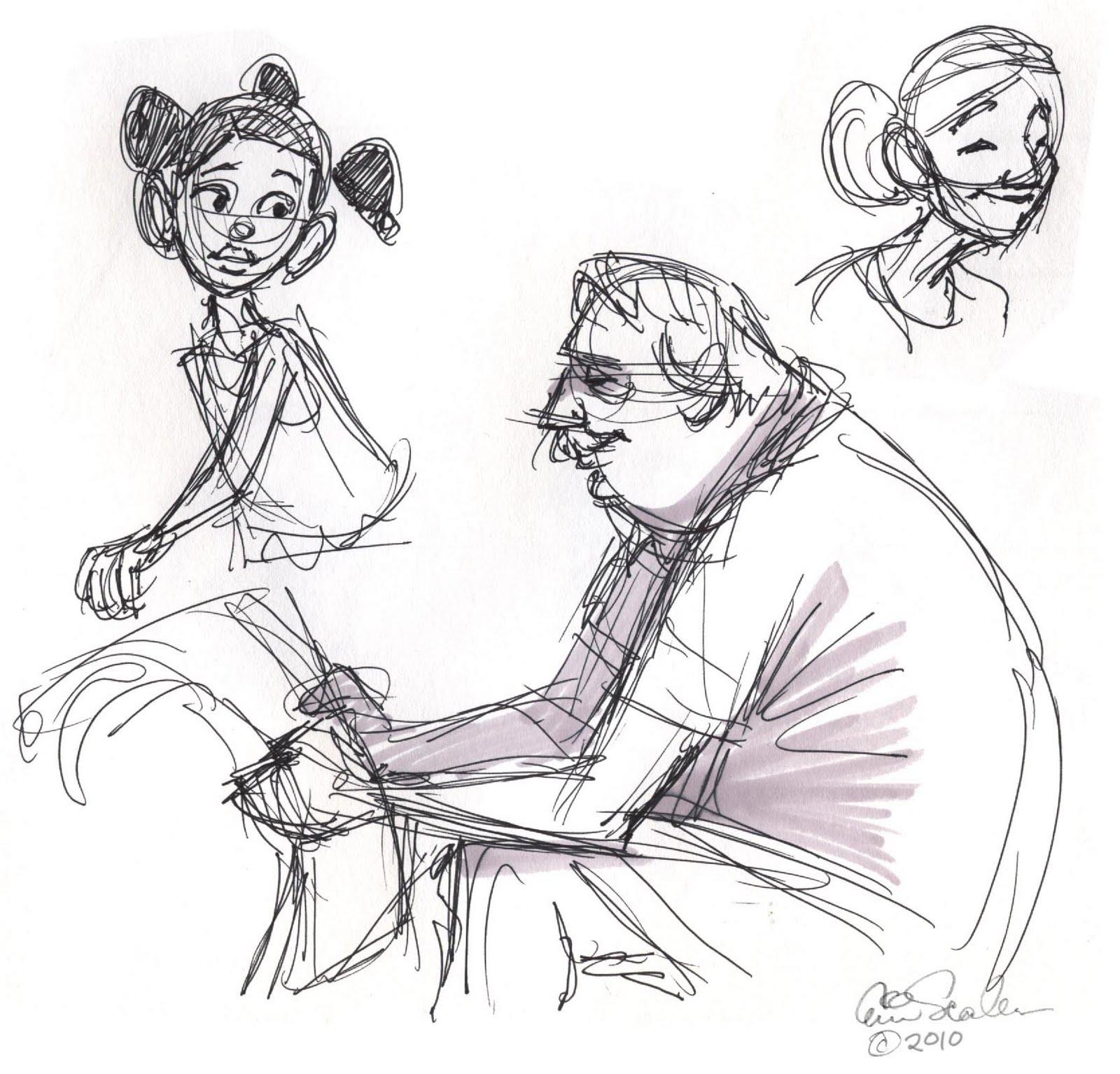 Drawings Of People: The Ol' Sketchbook: The People In My Neighborhood