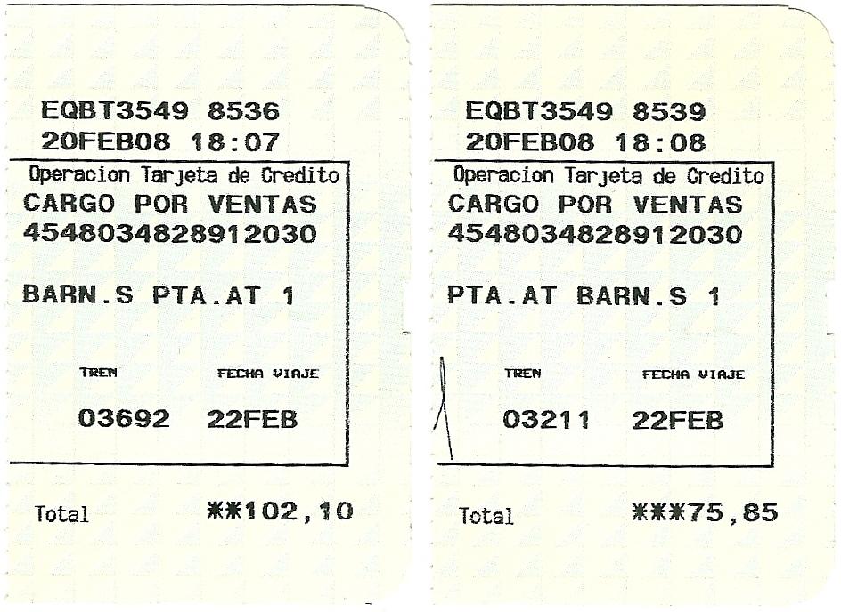 Billetes tren ida y vuelta - MIL ANUNCIOS.COM