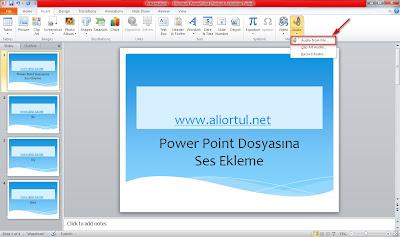 Powerpoint ses ekleme