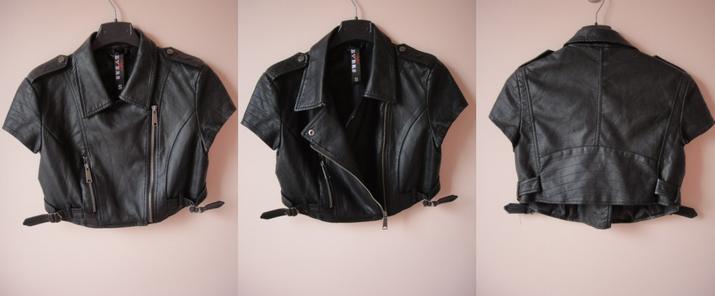 veste+cuir+biker Perfecto Biker court, S M Cuir