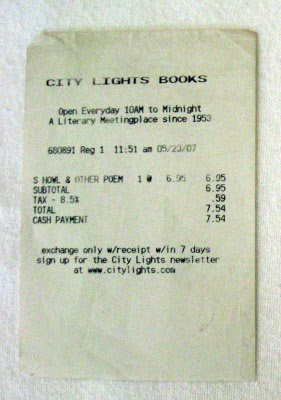 (photohowl receipt from city