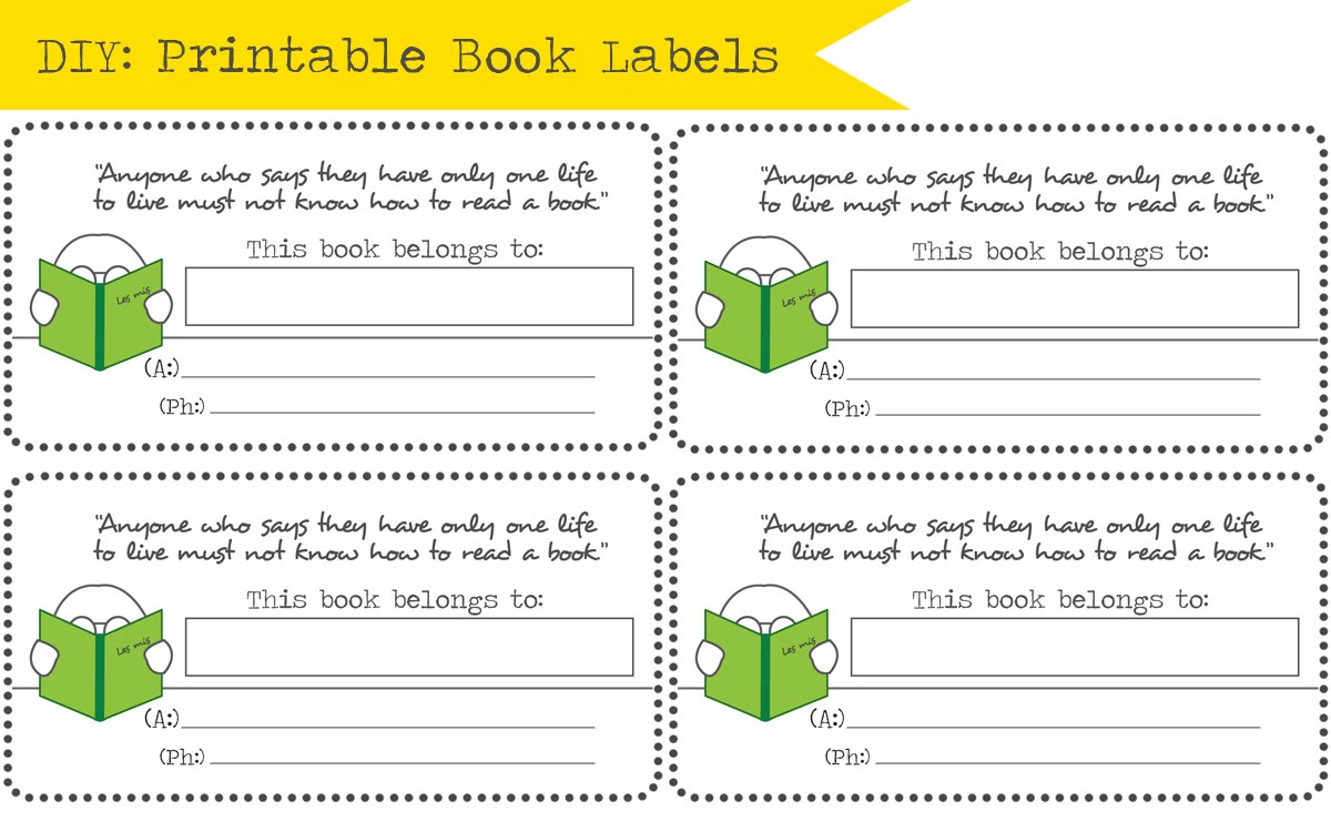 school book labels to - photo #4