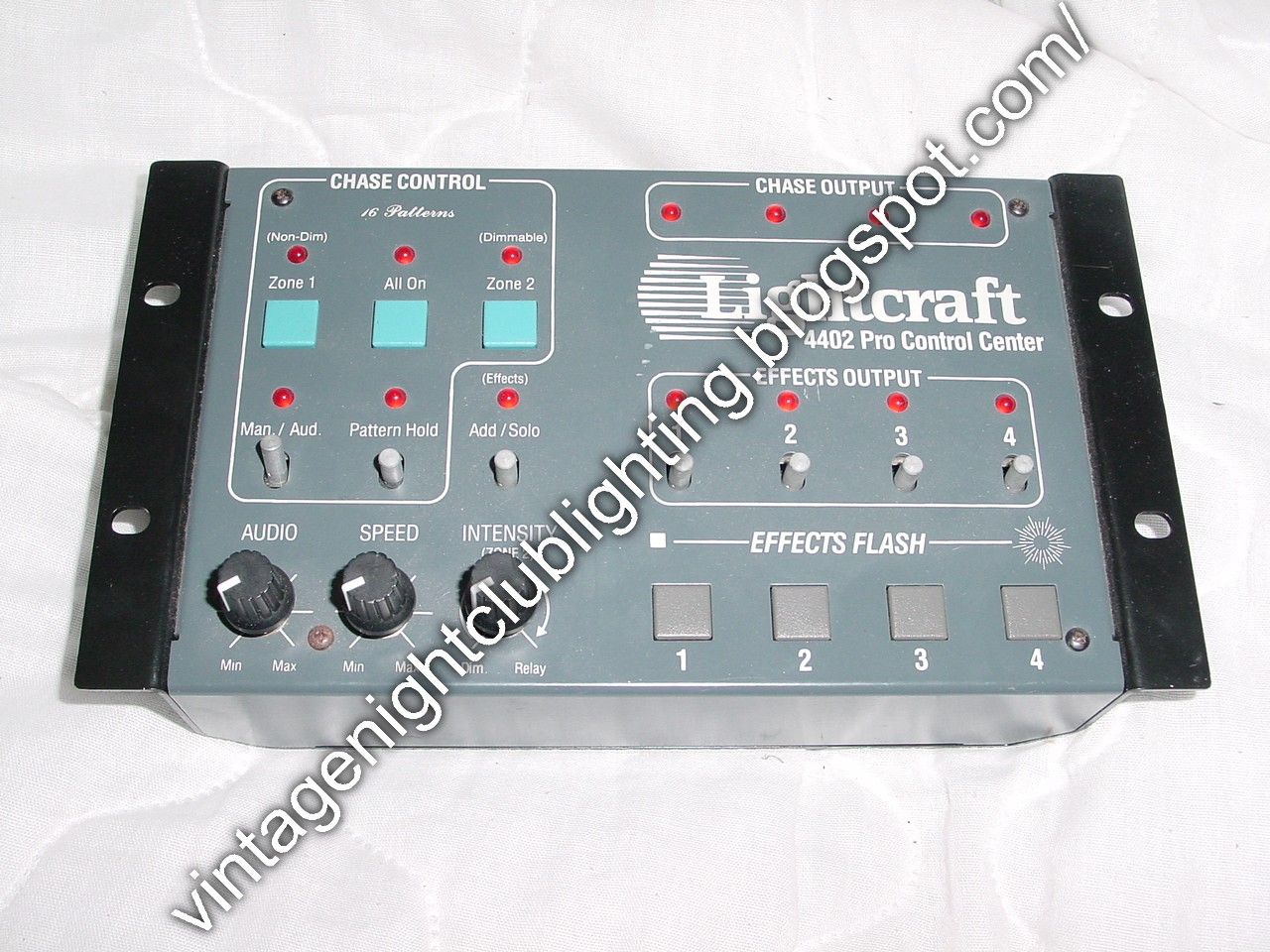 Vintage Night Club Lighting Lightcraft 4402 Pro Control Center Audio Wiring Plans For Nightclub Additional Zone Of Dimming Or Relay And Direct Patching Into The Unit Via A 1 4 Plug On Rear Made In United States