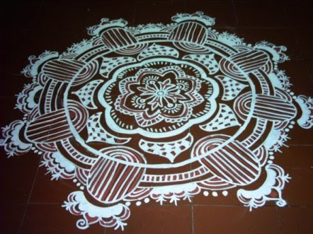 dora 39 s unique touch alpona art to decorate the floors On floor alpona