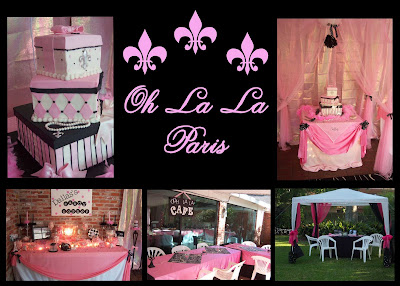 Night in Paris Theme Birthday http://whimsywayparty.blogspot.com/2010/01/party-themes.html