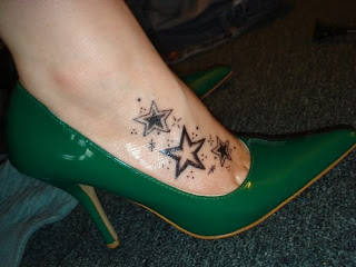 Sexy Foot Star Tribal Tattoos Picture 1