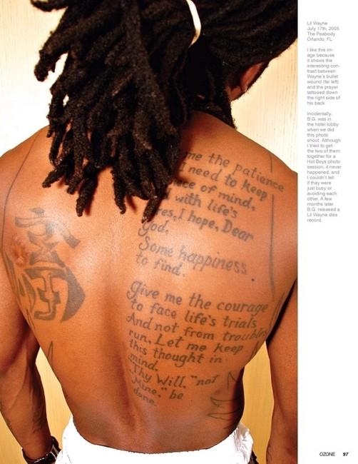 Lil Wayne Tattoos - Lettering Tattoo