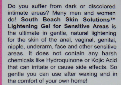South Beach Lightening Gel For Intimate Areas
