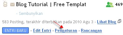 pengaturan blog di blogger