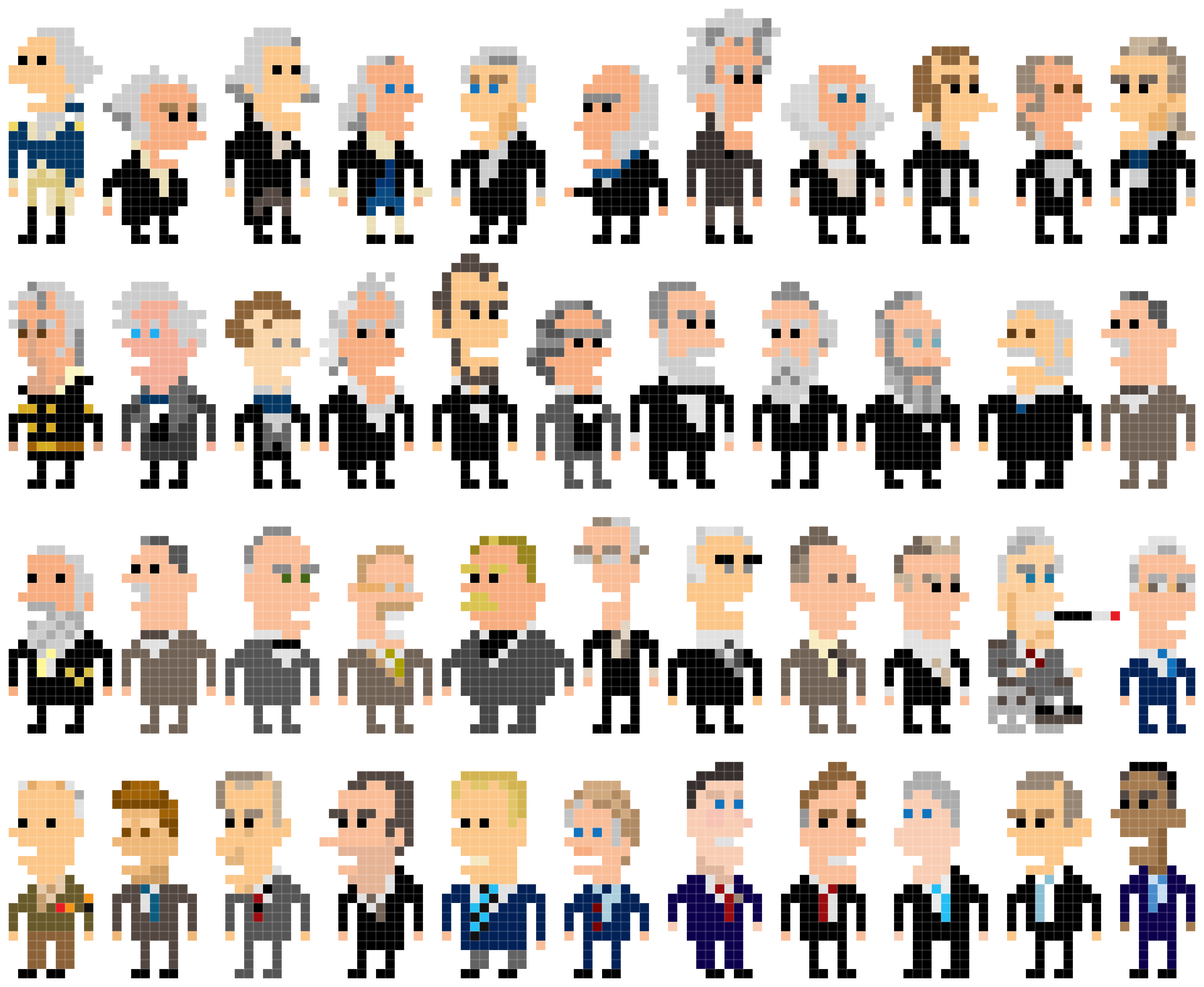 All the Presidents of United States Clip Art