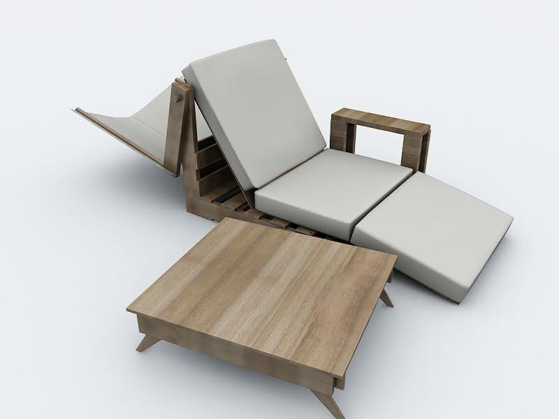 Chispa design mobiliario de exterior reutilizando palets - Mobiliario de exterior ...
