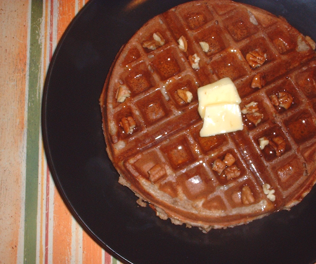 Spiced Yogurt Waffles with Toasted-Pecan Maple Syrup from Fine Cooking ...