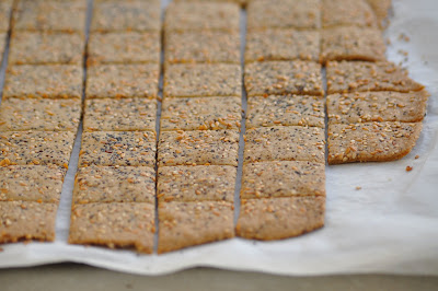 brown rice and flax seed crackers recipe