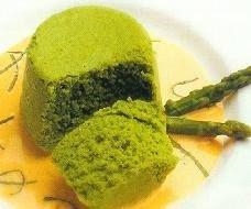 Flan de esparragos verdes