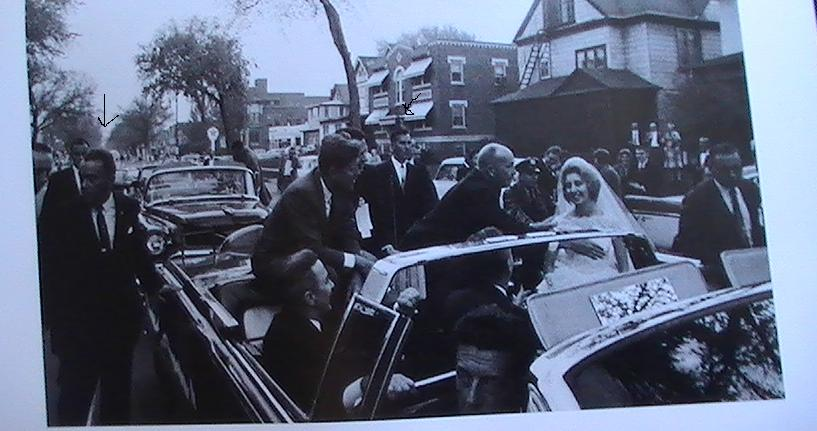 Agents. inc. Stout & Lilley, by JFK's car in Pittsburgh 1962