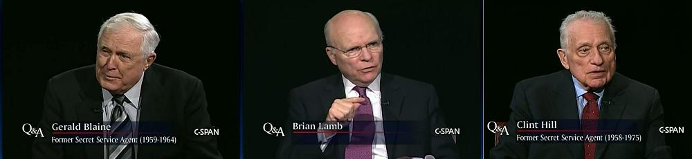 The Kennedy Detail: agents Gerald Blaine & Clint Hill with CSPAN's Brian Lamb re: ME (11/28/10)